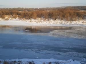 Неполный ледостав. Фото Замошского Ю.П.