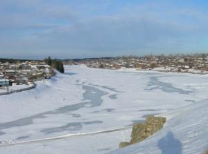 Река Тура в районе  г. Верхотурье. Фото  Мартюгиной В.С.