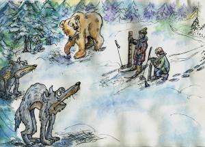 2015-02-19-1  Снегосьёмка. Рис. Агафоновой М.С.
