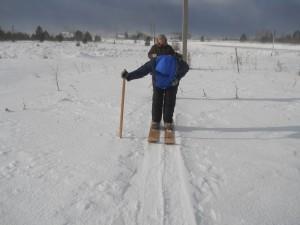 2 снегосъемка на полевом маршруте в Липовском 115