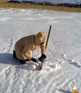 3 снегосъемка на полевом маршруте в Ирбите 90