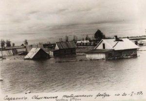 Река Тавда, д. Сарьянка весной 1957 г.