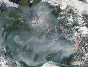 2016.07-19 пожары в ЯНАО востоке ХМАО задымление